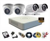 Trọn bộ 6 camera Hikvision 1Mp