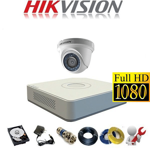 TRỌN BỘ CAMERA HIKVISION 2.0MP 01 CAMERA