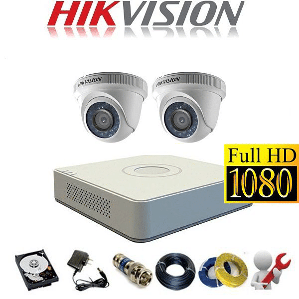 TRỌN BỘ CAMERA HIKVISION 2.0MP 02 CAMERA