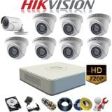 Trọn bộ 9 camera Hikvision 1Mp ( HD 720)